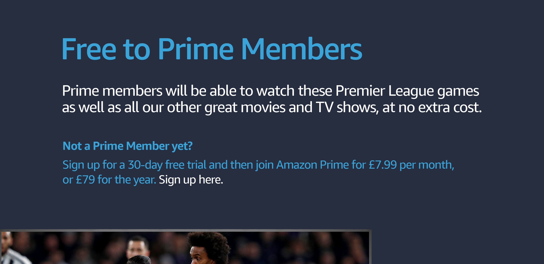 Premier League on Prime Video