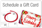 Schedule a Gift Card in advance