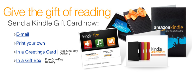 Can you use amazon kindle gift cards for anything