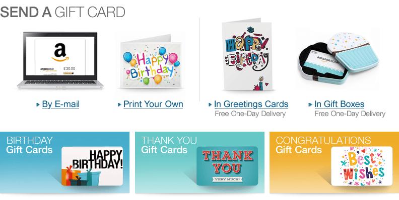 Amazoncouk Gift Cards