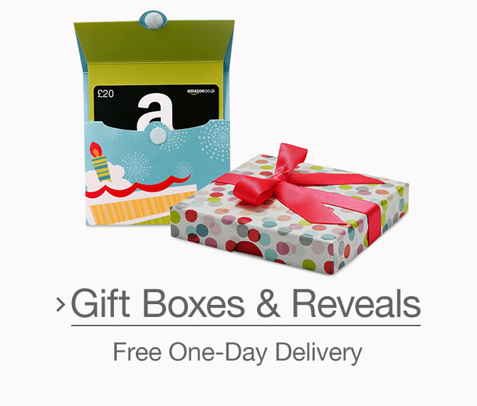 Gift Cards in Gift Boxes & Reveals