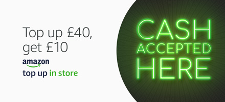 Get a £10 promo code with your first Top Up In Store