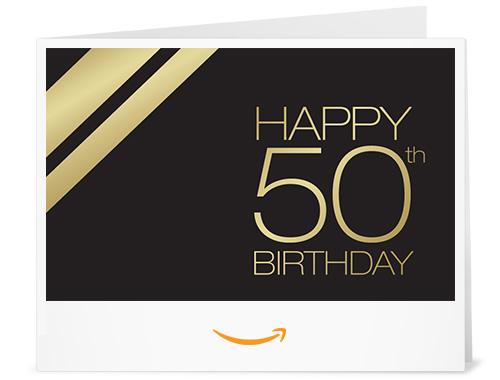 50th Birthday - Printable Amazon.co.uk Gift Voucher