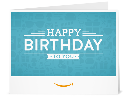 Birthday Icons - Printable Amazon.co.uk Gift Voucher ...