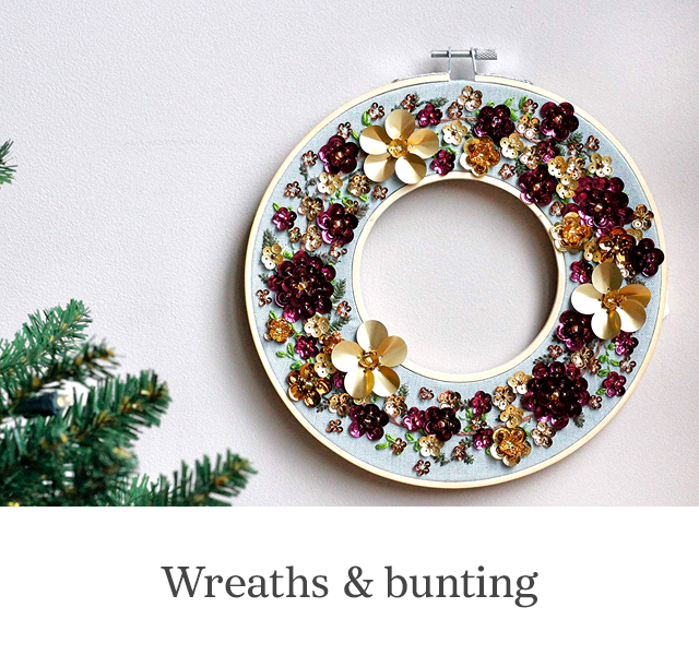 Wreaths and buntings
