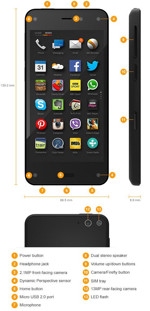 9399d274e9a30d Amazon Fire Phone - 13MP Camera, 32GB - Shop Now