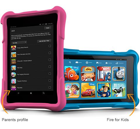 on sale 65e00 074ad Dettagli su Amazon Kindle HD 7 pollici Fire Kids Edition Wi-Fi 16GB 2  telecamere Bundle custodia blu- mostra il titolo originale