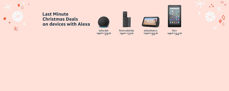 Amazon.co.uk - Last Minute Christmas Deals on Alexa Devices