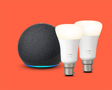 Echo Dot + Philips White Bulbs