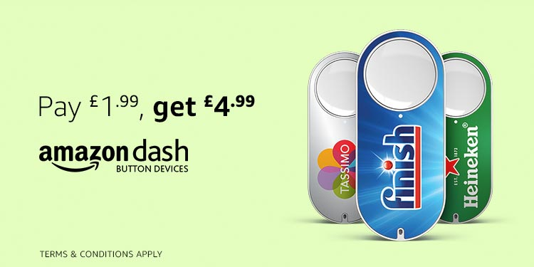 Amazon Dash Button Devices - Pay £1.99, get £4.99 after your first press