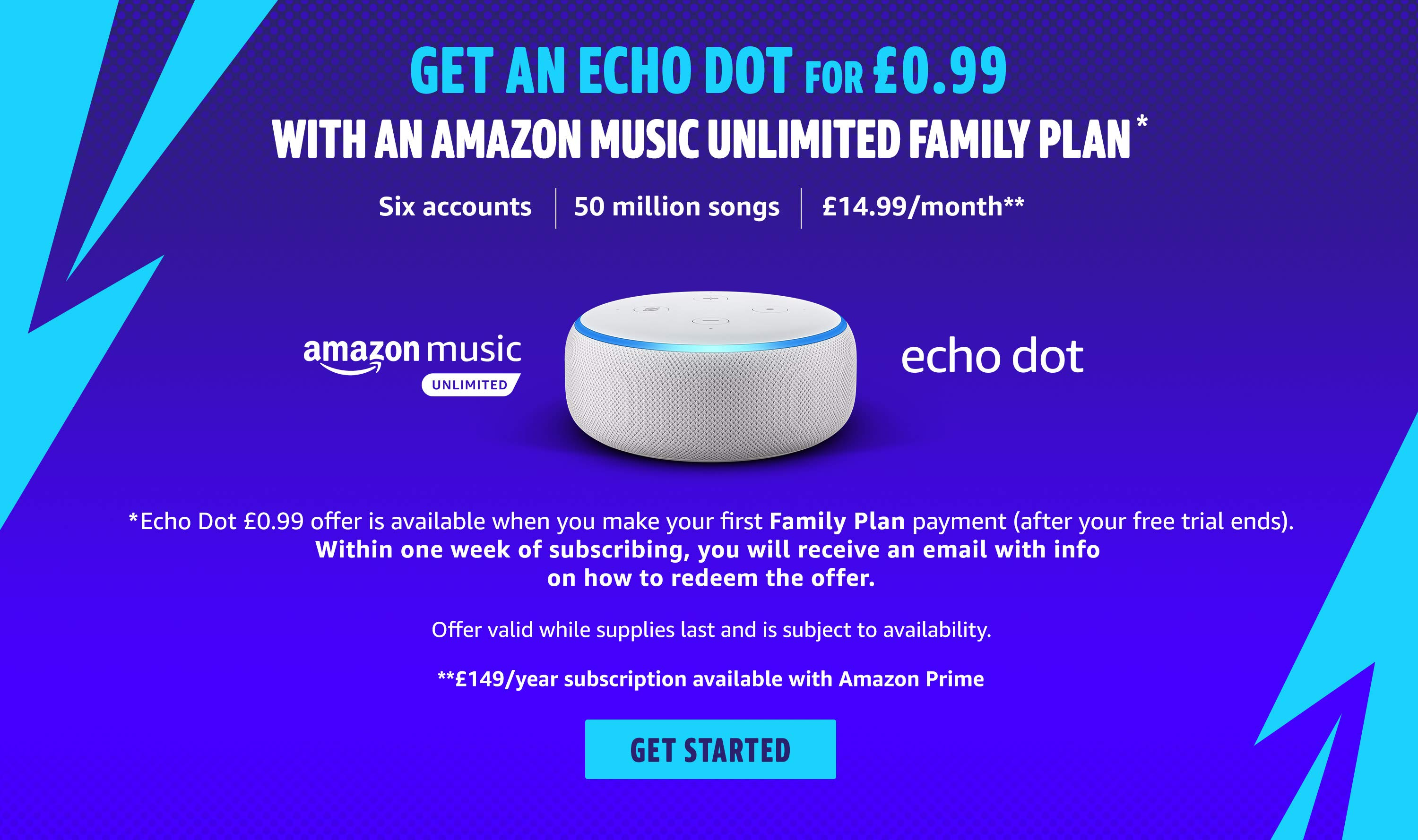 AMU + Echo Dot promotion