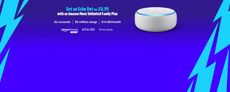 Echo Dot and Amazon Music Unlimited