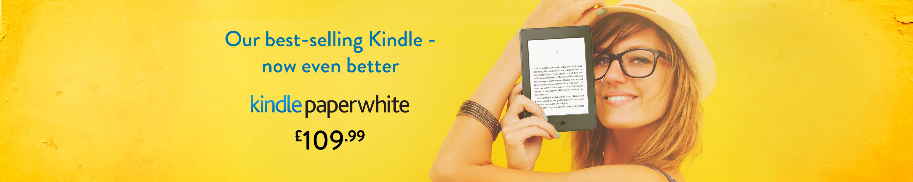 Kindle Paperwhite - our best-selling Kindle - now even better