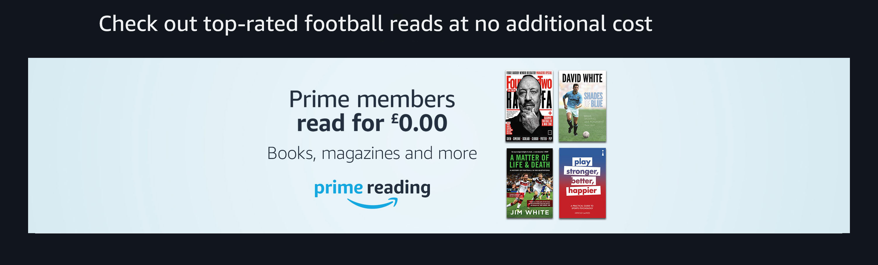 Check out top-rated football reads at no additional cost