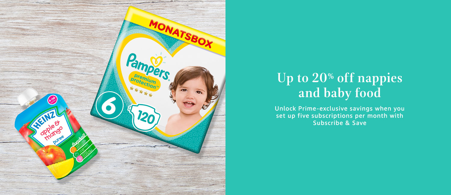 Up to 20% off nappies and baby food