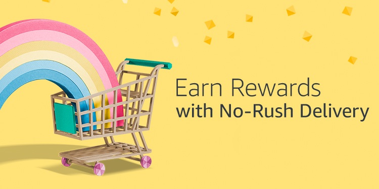 Earn rewards with No-Rush Delivery