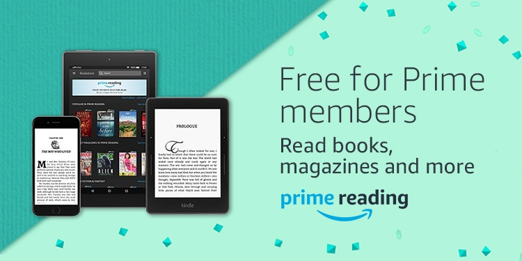 Read books, magazines and more included with Prime