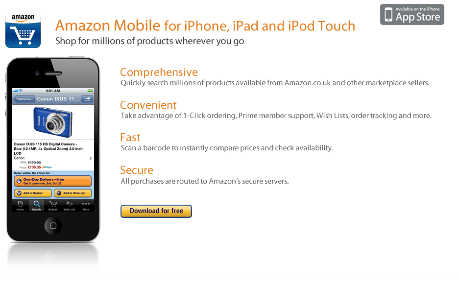 Amazon FR iPhone App