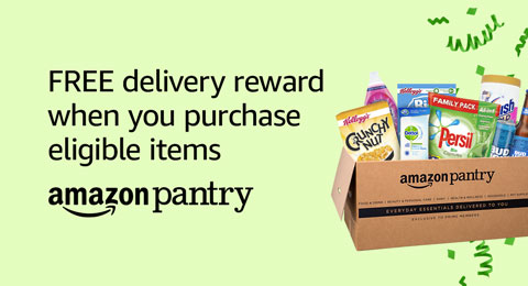 Amazon Pantry: Get a £10 reward when you spend £30 or more