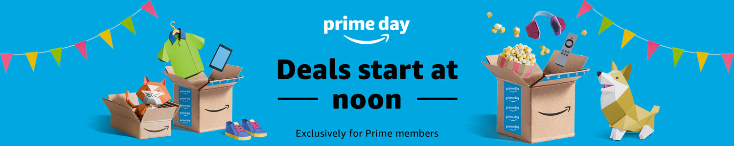 Prime Day deals start at noon! Exclusively for Prime members.