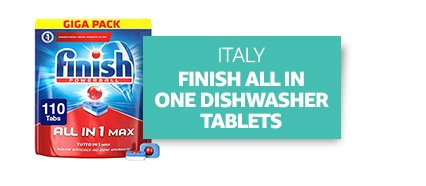 Italy: Finish All in One Max 110 Dishwasher Tablets