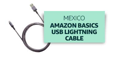 Mexico: Amazon Basics USB Lightning Cable