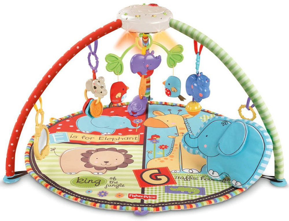 Fisher price musical play mat fisher price luv u zoo - Tapis d eveil fisher price zoo deluxe ...