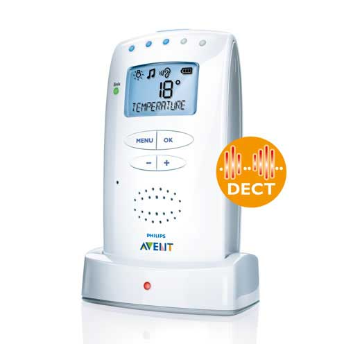 philips avent scd525 00 dect eco baby monitor with. Black Bedroom Furniture Sets. Home Design Ideas