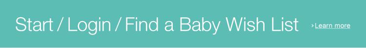 login or start Baby Wish List
