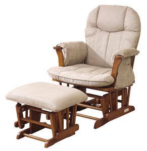kub Arden Glider and Footstool  sc 1 st  Amazon UK & Kub Arden Honey wood Finish Glider Chair and Footstool with Light ... islam-shia.org
