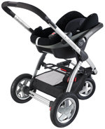 iCandy Apple 2 Pear Pushchair With Maxi Cosi CabrioFix Car Seat Caviar