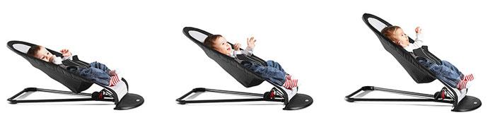 Babysitter Balance in three positions