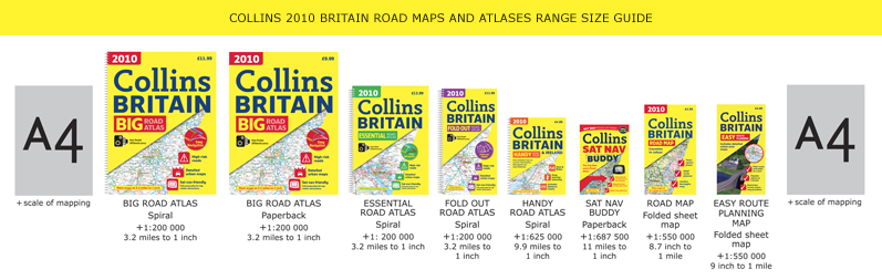 Collins Britain Road Maps and Atlases