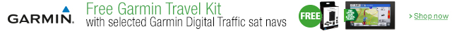 Free Case Pack with Garmin Digital Traffic Sat Nav