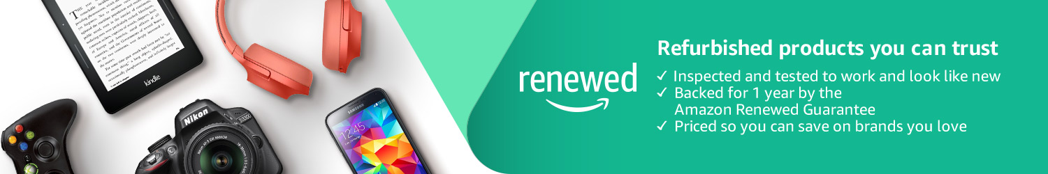 Refurbished products on Amazon Renewed