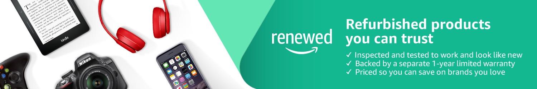 Refurbished products on Amazon Renewed