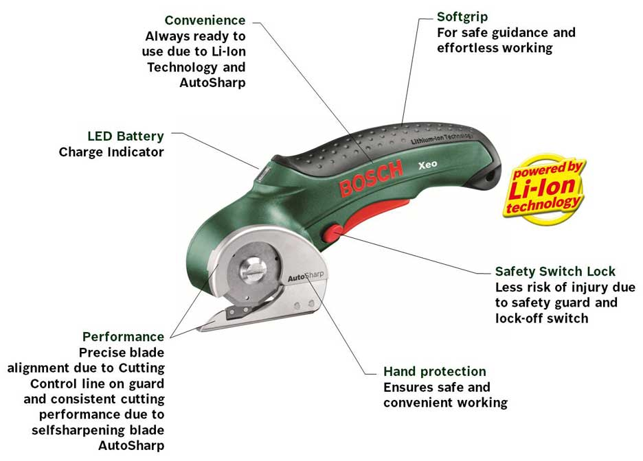 Bosch Xeo 1 Lithium Ion Universal Cutter Old Version