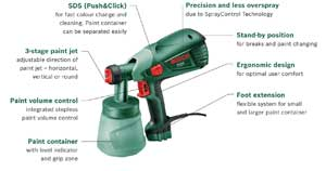 Bosch pfs 55 paint spray system diy tools for Hplv paint sprayer