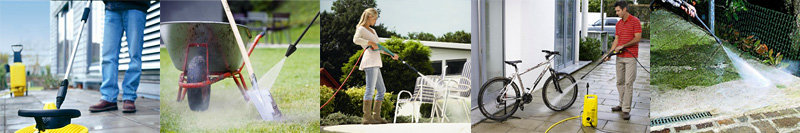 A pressure washer will remove dirt and paintwork quickly and easily