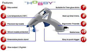 The Dremel 930 hobby glue gun has a number of useful features.