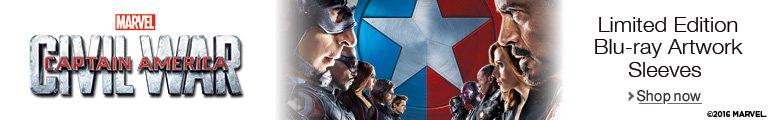 Captain America: Civil War Limited Edition Blu-ray Artwork