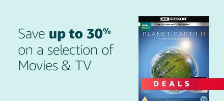 Save up to 30% on selected Movies and TV