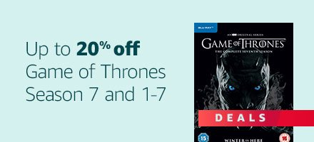Up to 20% off Game of Thrones Season 7 S1-7 DVD and Blue-ray