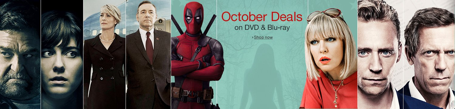 October Deals on DVD & Blu-ray