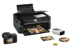 Epson Stylus Photo PX650 6 Colour Photo Printer (Individual Inks, Screen and Card Slots)