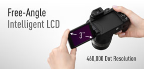 3.0-inch Free-angle Intelligent LCD
