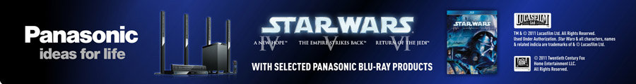 Claim Star Wars Trilogy IV, V and VI with Selected Panasonic Blu-ray Products