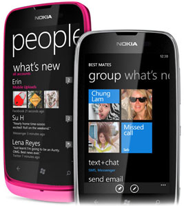 Nokia Lumia 610 with Live Tiles for instant updates