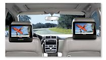 The unique and easy-to-mount car system brings you entertainment on the go