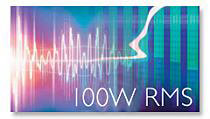 100 watt root mean square for more sound power.